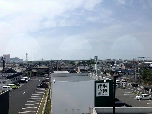 泉大津市付近の車窓風景