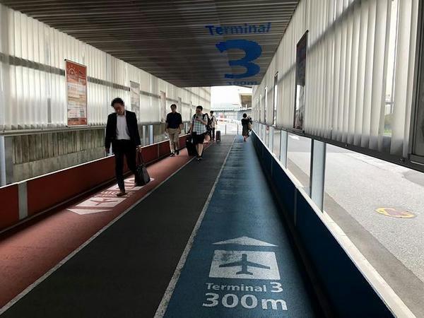 第2ターミナルと第3ターミナルを結ぶ連絡通路