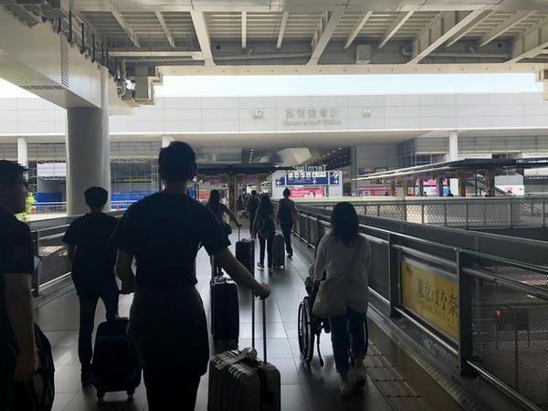 関西空港駅へ