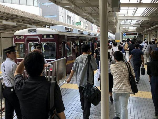 西宮北口駅で阪急今津線普通列車に乗り換え