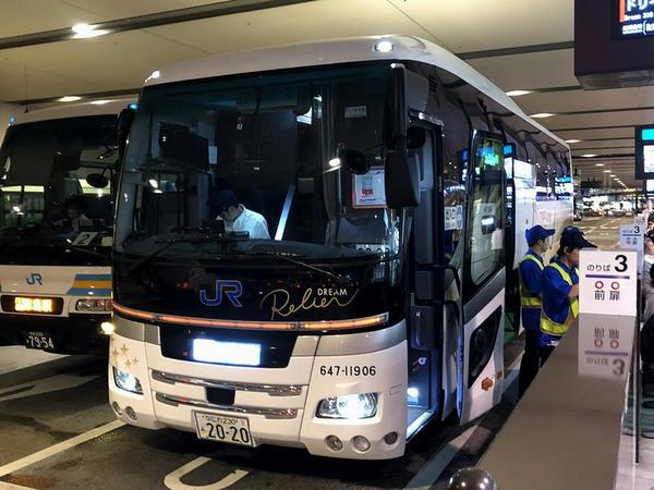 大阪JR高速BTに停車中のドリームルリエ102号