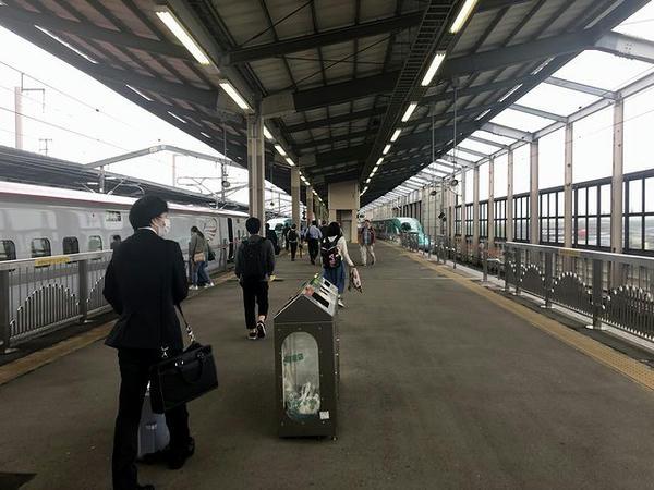 那須塩原駅に到着