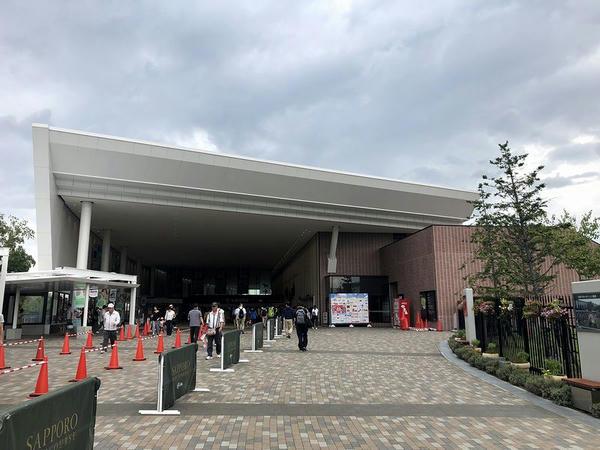 札幌競馬場に到着