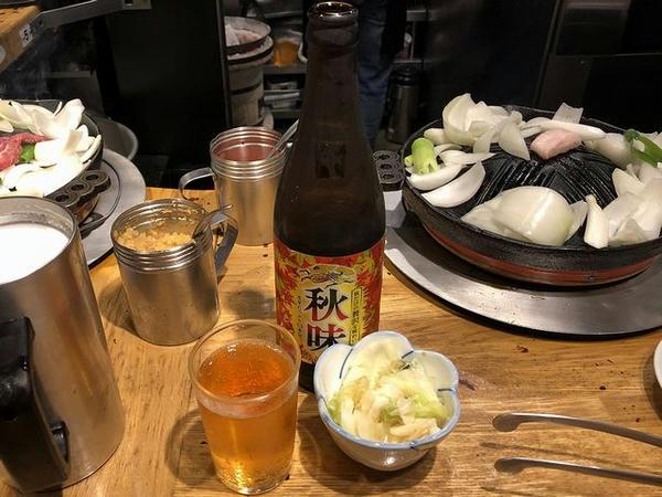 瓶ビール 600円 と お通し(おしんこ) 200円