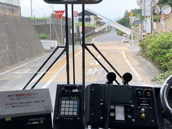 かしてつバス専用路線にある踏切