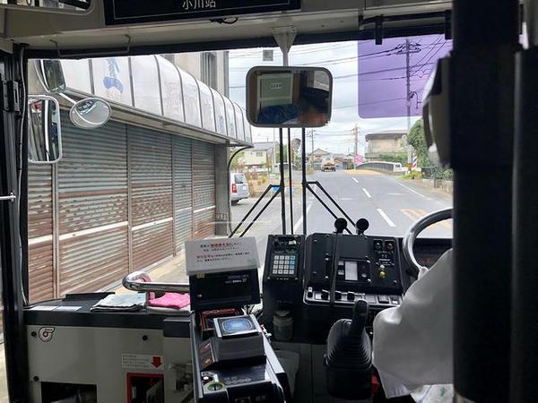 小川駅バス停手前
