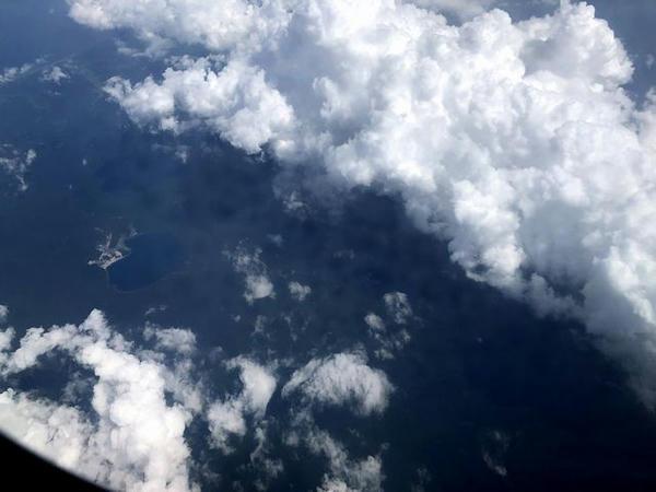 機窓から見た恐山