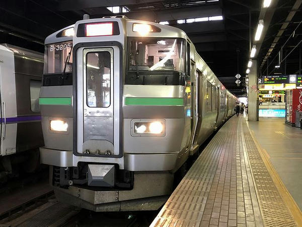 札幌駅に到着した快速エアポート135号
