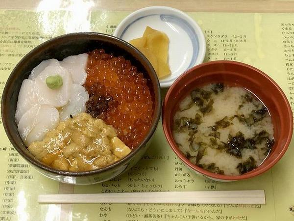 いただいた元祖巴丼(1780円・税別)