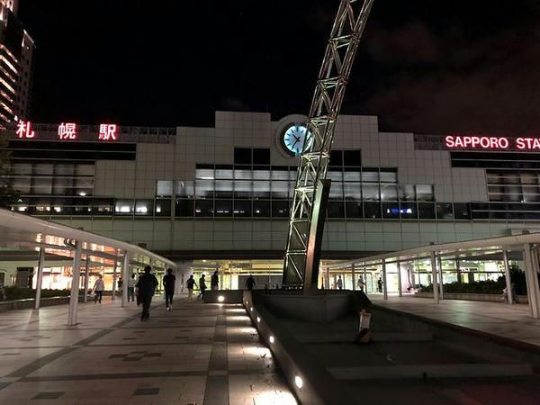 夜の札幌駅北口