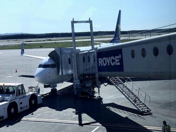 新千歳空港に駐機中の茨城空港行きSKY790便