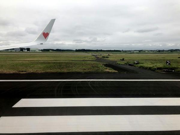 茨城空港に着陸