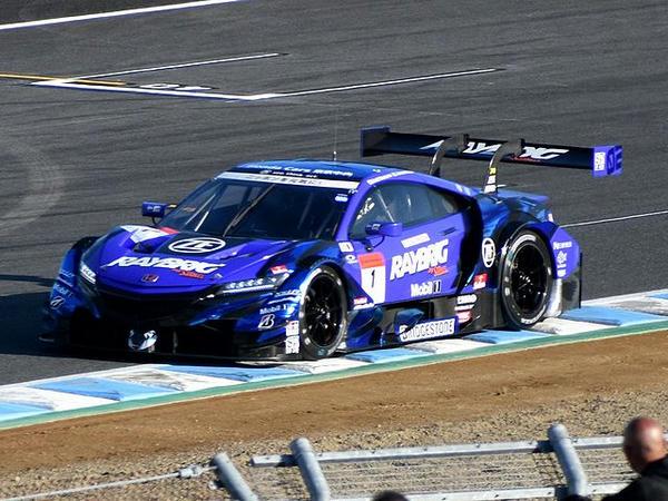 タイムアタックをする#1 RAYBRIG NSX-GT(ジェンソン・バトン選手)