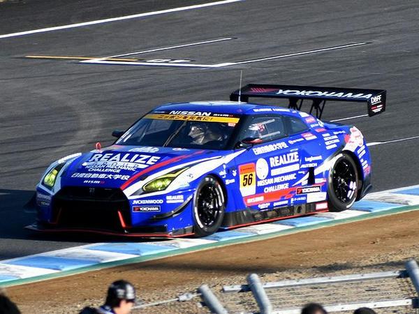 GT300予選で惜しくも2位となった#56 リアライズ 日産自動車大学校 GT-R(平峰一貴選手)