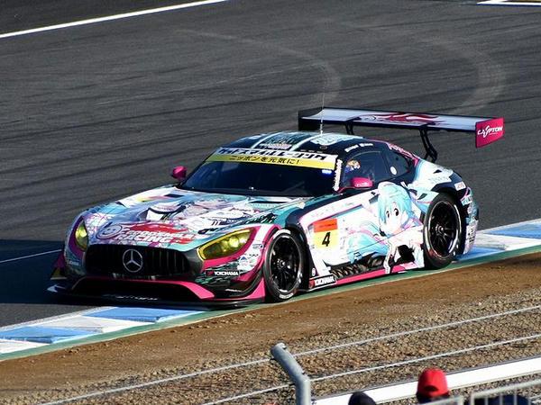 GT300予選で惜しくも7位となった#4 グッドスマイル 初音ミク AMG(片岡龍也選手)
