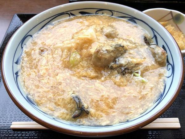牡蠣づくし玉子あんかけうどん(大) 800円