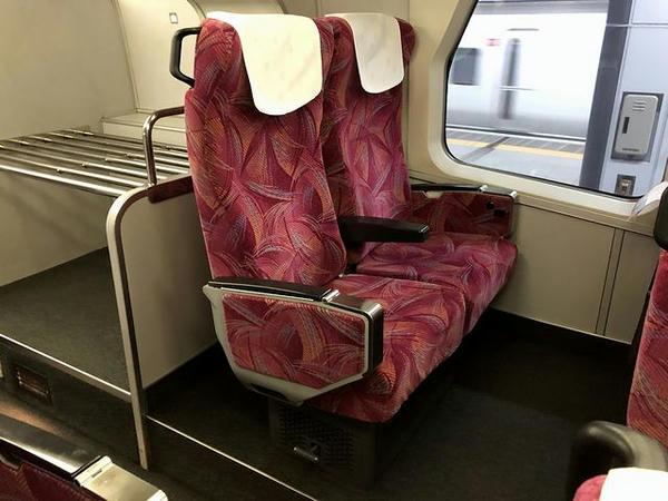 展望席のシート