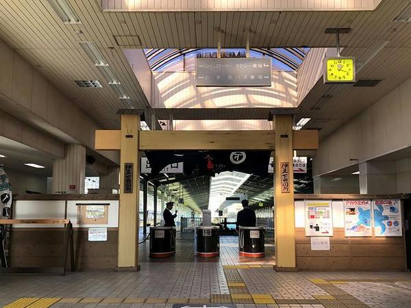 関所っぽい伊豆急下田駅出札口(後で撮影)