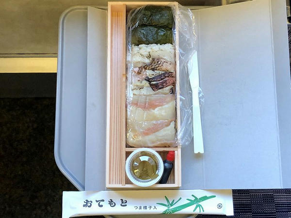 金目鯛押寿司 匠の三種(1300円)の中身
