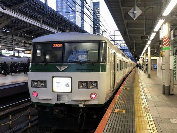 東京駅に到着後は回送列車に
