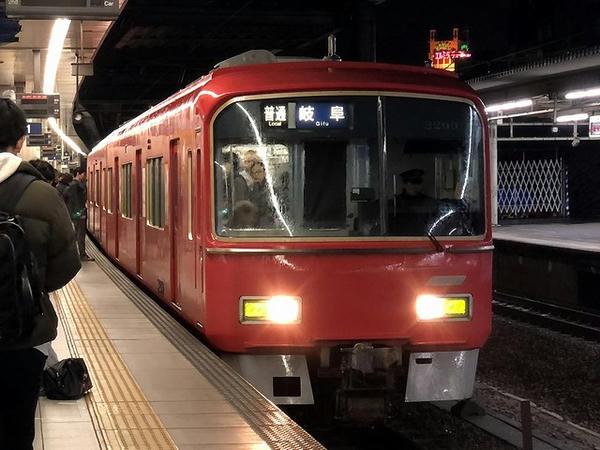 金山駅から乗車した名鉄電車