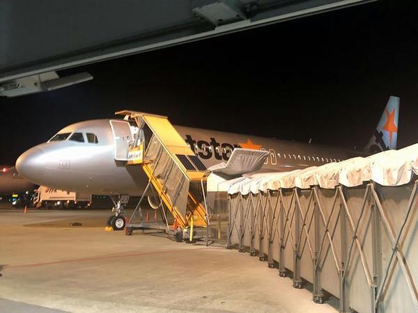 成田空港に駐機中のジェットスター・ジャパンGK211便