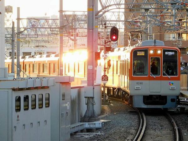 山陽姫路駅に入ってくる直通特急