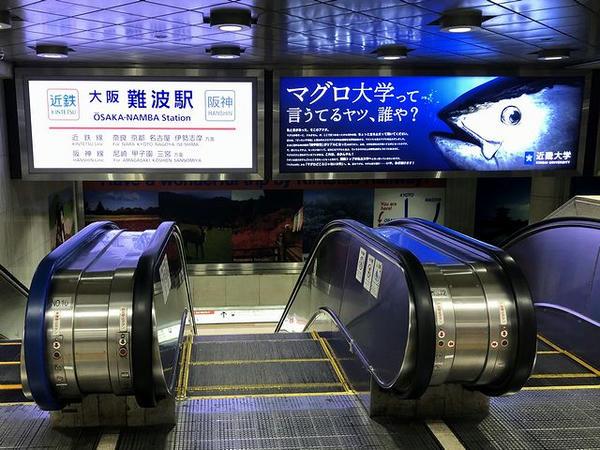 大阪なんば駅へのエスカレーター付近