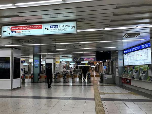 大阪難波駅改札口付近