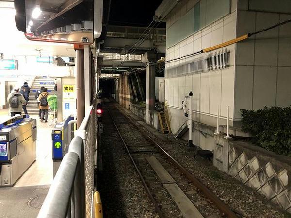 武庫川駅武庫川線ホームから北方向を望む