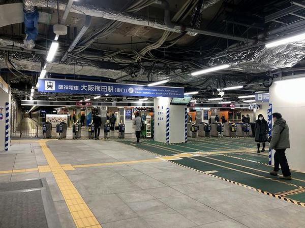 (阪神)大阪梅田駅改札口付近