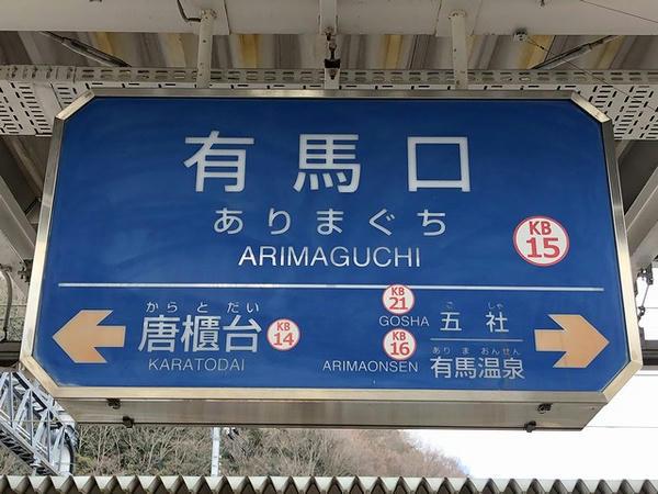 有馬口駅の駅名標