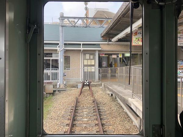 三田駅進入
