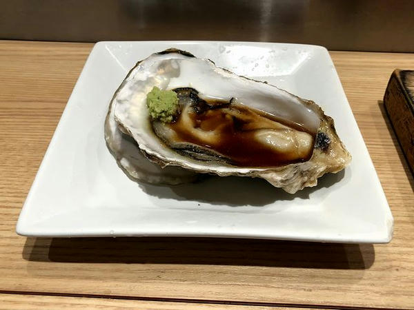 夕食にいただいた生牡蠣