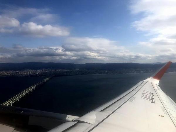 関西国際空港離陸直後