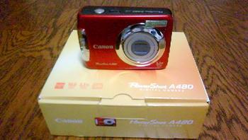 PowerShot A480 レッド