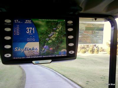 GPS付きゴルフカート