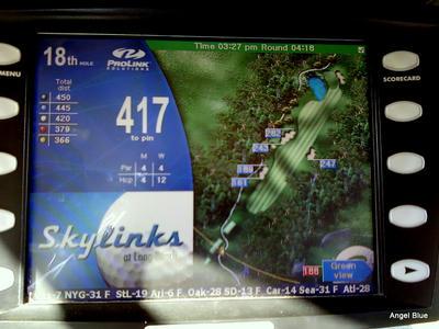 GPS付きゴルフカート アップ