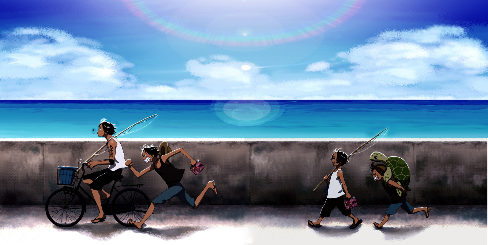 ace and luffy fighting wallpaper - photo #26