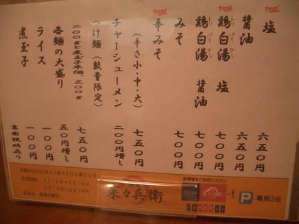 菜々兵衛(メニュー)