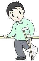 骨折・怪我・リハビリ・骨折治療・松葉杖・ギブス