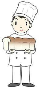 パン職人・パン屋さん・手作りパンの店・パン屋店主