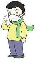 インフルエンザ・マスク着用・ウィルス感染・感染予防