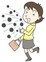 飛沫感染・空気感染・咳・くしゃみ・ウィルス飛散