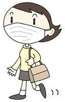 マスク着用・インフルエンザ対策・飛沫感染予防