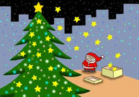 クリスマスツリー・きらきら星・イルミネーション