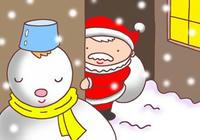 クリスマス・雪・雪ダルマ・サンタクロース