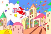 サンタクロース・教会・クリスマスプレゼント