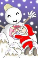 クリスマス・サンタクロース・雪だるま・聖夜