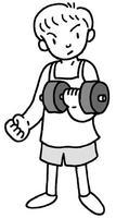 筋力アップ・体力アップ・筋肉トレーニング・ダンベル